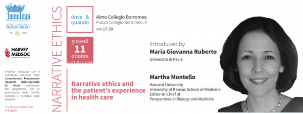 11 ottobre - Narrative ethics and the patient's experience in health care