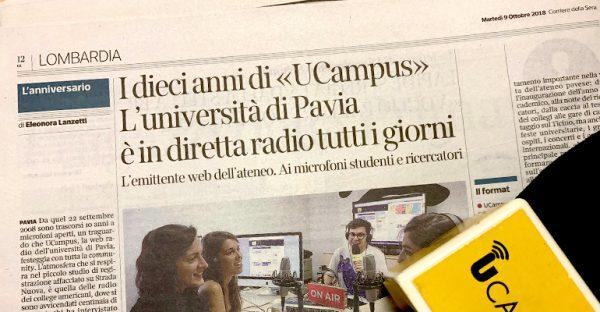 UCampus sul «Corriere della Sera» per i 10 anni di attività