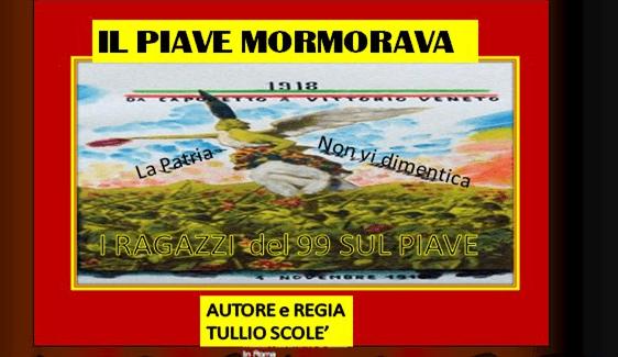 """Dal 20 ottobre al 14 gennaio 2019 - Presentazione docu-film storico """"Il Piave Mormorava"""" ai Musei Civici di Pavia"""