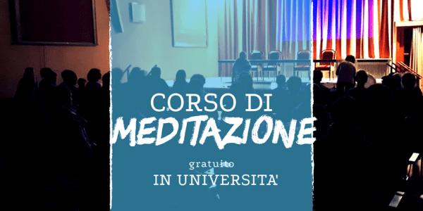 Ultima possibilità di frequentare un corso di meditazione gratuito per 3 mesi in università