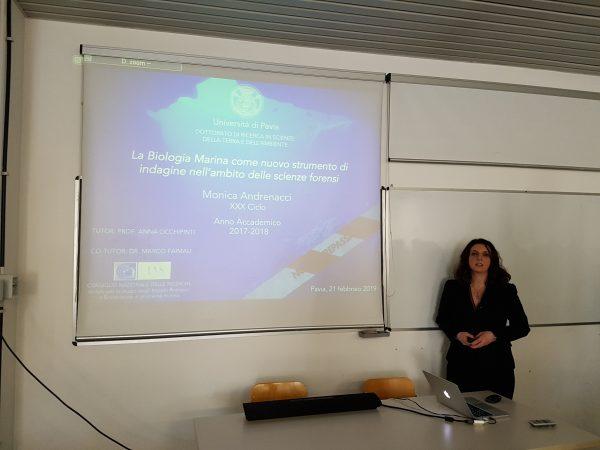 Presentata presso UniPV la prima tesi di dottorato sulla biologia marina forense