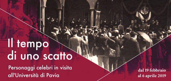 Dal 19 febbraio al 6 aprile - Il tempo di uno scatto. Personaggi celebri in visita all'Università di Pavia