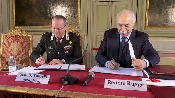 Università di Pavia e Arma dei Carabinieri, firmata la Convenzione quadro (Video)