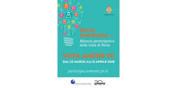 Pavia Partecipa 2019 - Vota anche tu dal 22 marzo all'8 aprile 2019