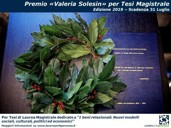 """Premio """"Valeria Solesin"""" per Tesi Magistrale"""
