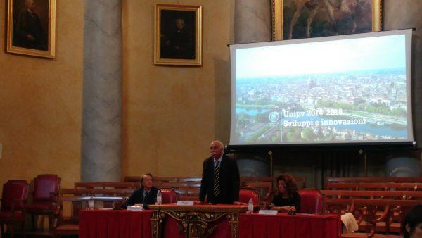 L'intervento del Rettore Fabio Rugge alla presentazione del rapporto di fine mandato