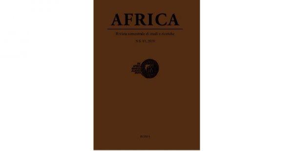 """11 ottobre - Presentazione Nuova Serie """"Africa. Rivista semestrale di studi e ricerche"""""""