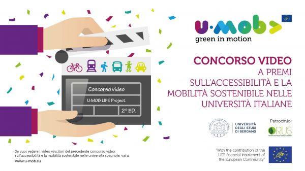 U-Mob: Concorso video a premi sull'accessibilità e la mobilità sostenibile nelle università italiane