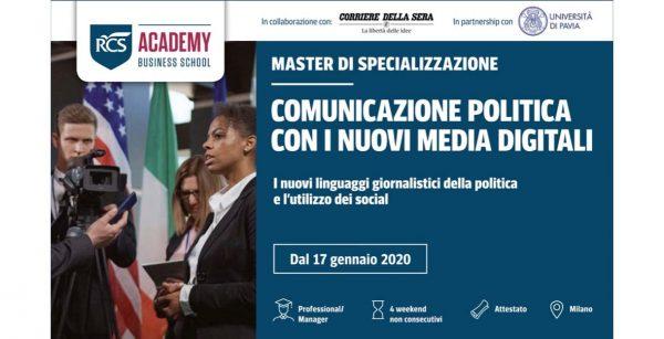 Master Comunicazione Politica con i nuovi media digitali