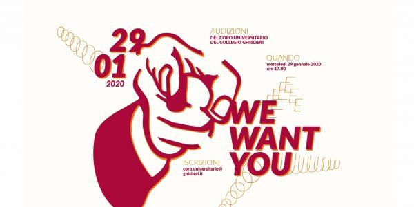 29 gennaio - Audizioni Coro Universitario del Collegio Ghislieri