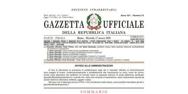 """Pubblicato il Decreto """"Cura Italia"""" con misure per l'Università"""