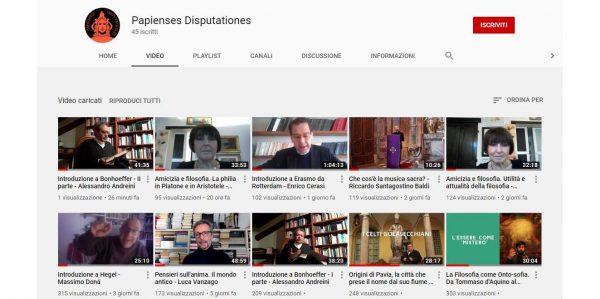 Canale Youtube della Pastorale Universitaria: i video della settimana