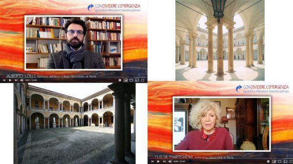 """Iniziati i video del Collegio Borromeo su """"Condividere l'emergenza"""""""
