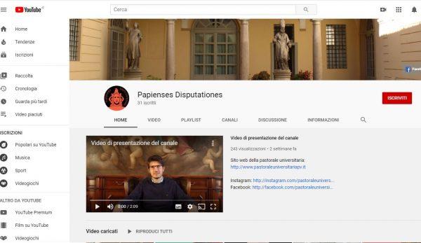 Online il nuovo canale Youtube della Pastorale Universitaria: i video della settimana!
