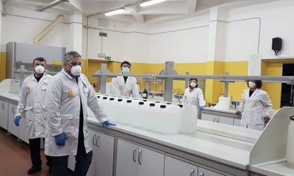 Il Dipartimento di Chimica UniPV produce 200 litri di disinfettante