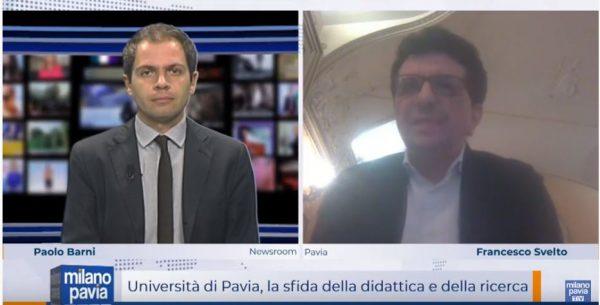 """""""Milano Pavia News"""": Il Rettore UniPV Francesco Svelto parla di ricerca e didattica online (Video)"""