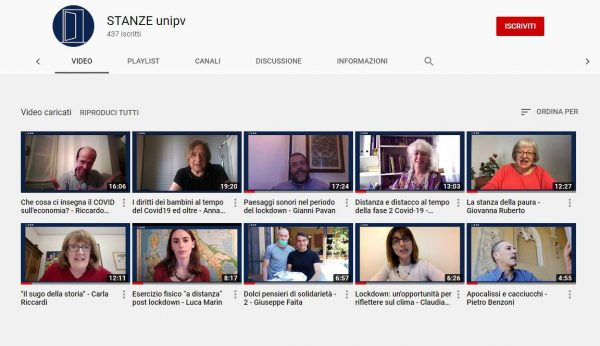 """I nuovi contributi della settimana per """"STANZE_unipv"""" il video-magazine dell'Università di Pavia"""