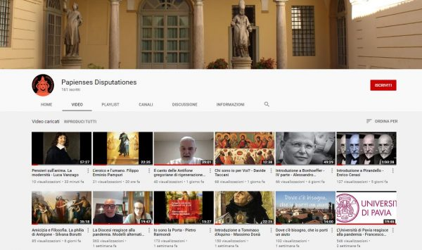 Nuovi video sul canale Youtube della Pastorale Universitaria
