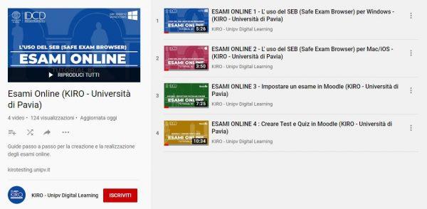 Su KIRO i video-tutorial per gli esami online