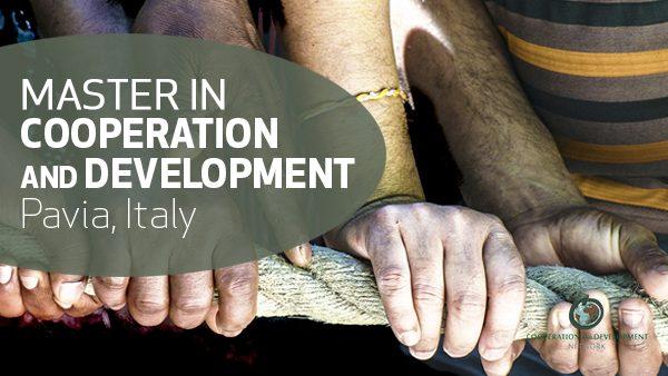 Prorogate le iscrizioni al Master in Cooperazione e Sviluppo di Pavia. Deadline 9 settembre