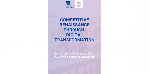 "18 e 19 febbraio - Conferenza ""Competitive Renaissance through digital transformation"""