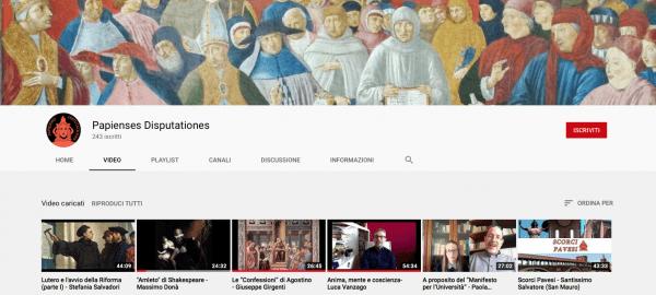 """I nuovi video sul canale YouTube della Pastorale Universitaria """"Papienses Disputationes"""""""