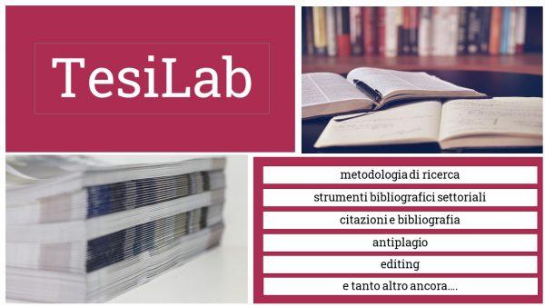 18 e 26 novembre – TesiLab. Metodologia e strumenti di ricerca bibliografica