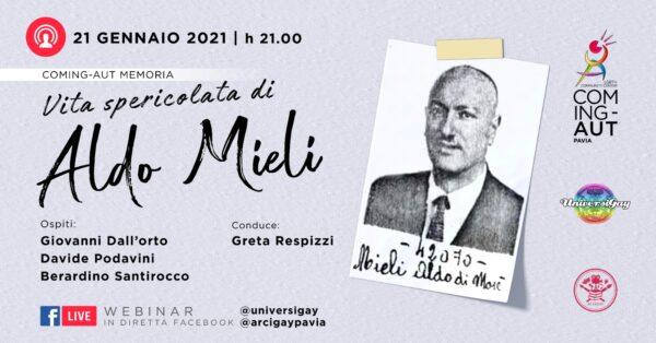 21 gennaio - Vita spericolata di Aldo Mieli