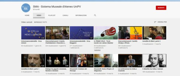 Visita il canale Youtube del Sistema Museale d'Ateneo