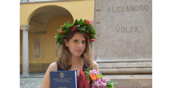 Premio Grazioli per le Scienze giuridiche a laureata Unipv
