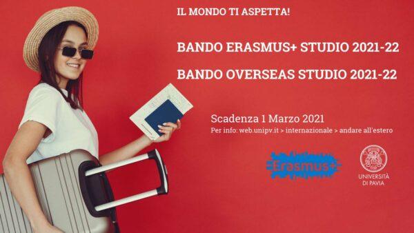 Bando Erasmus+ studio 2021/22 e Bando Overseas 2021/22